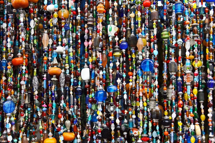 Glass beads...Essaouira, Morocco