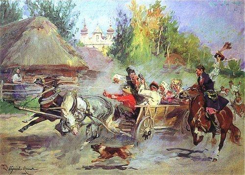 """""""Wesele krakowskie"""" Wojciech Kossak 1911"""