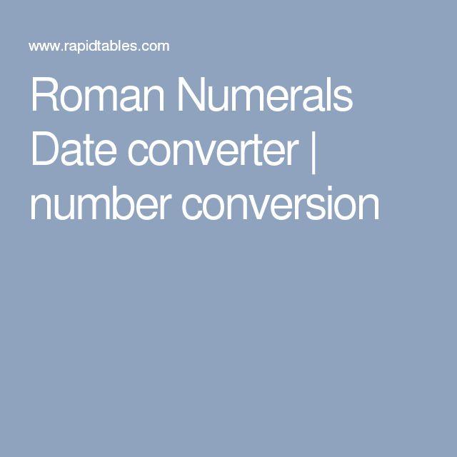 Roman numerals converter for dates in Australia