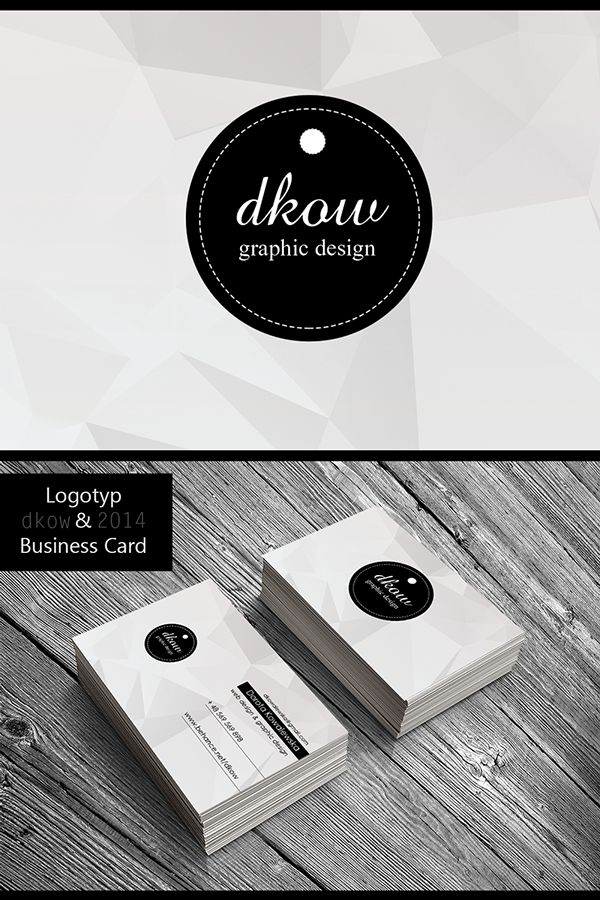 """dkow""Logotyp & Business Card by Dorota Kowalewska, via Behance"