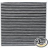Deals week 3-Pack Replacement Cabin Air Filter for 2014 ACURA TL V6 3.7L 3664cc Car/Automotive - Activated Carbon ACF-10134 sale