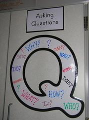 Question Poster:  P for Preguntas...Quien, Que, como... (could use giant upside down question mark ¿)