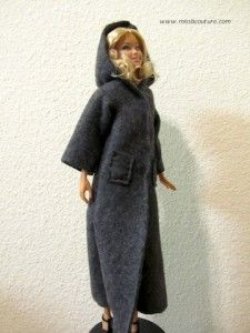 Long felt hooded coat for Barbie Posted on September 21, 2010 by missbcouture