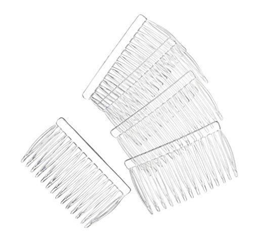 """14 Clear Plain plastic Smooth Hair Clips / Combs 2 3/4"""" LONG - Free shipping!"""