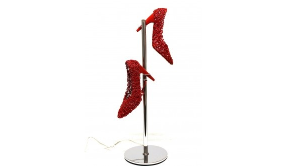 Shoe Table Lamp - Poly Resin - Red - 200dia x 630h