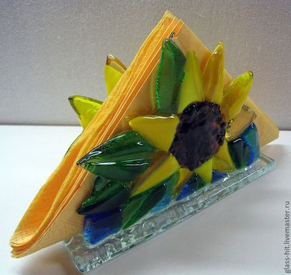 Fused Glass Napkin Holder