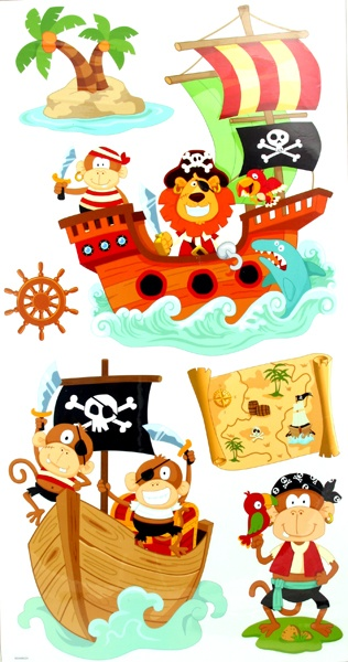 Pirate Wall Stickers from sue ryder