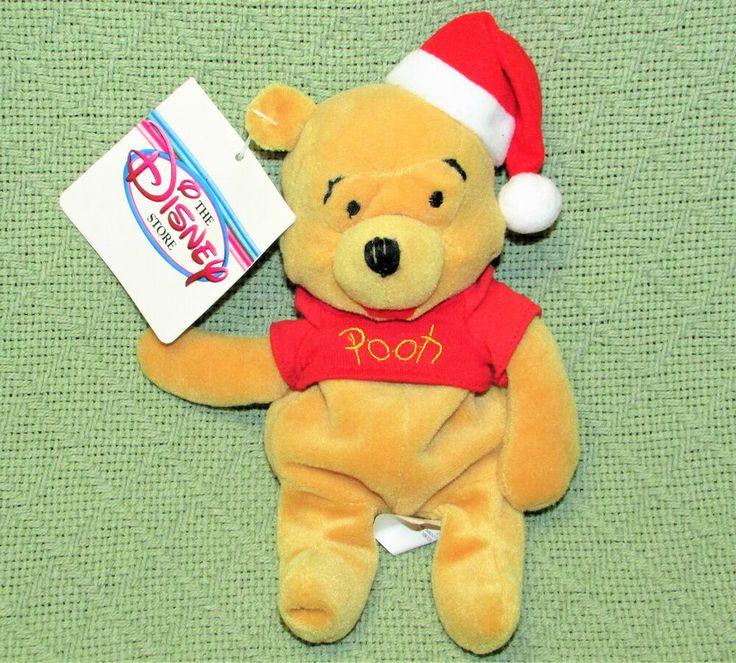 Disney store 8 santa claus pooh beanbag with tag
