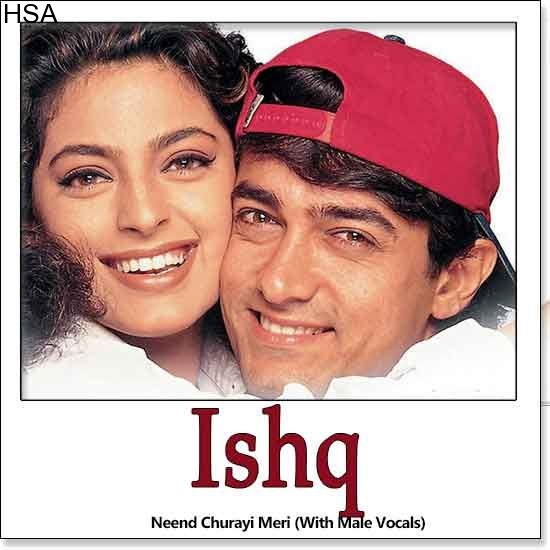 http://hindisingalong.com/neend-churayi-meri-with-male-vocals-ishq.html   Name of Song - Neend Churayi Meri (With Male Vocals) Album/Movie Name - Ishq Name Of Singer(s) - Alka Yagnik, Kumar Sanu, Udit Narayan, Kavita Krishnamurthy Released in Year - 1997 Music Director of M...