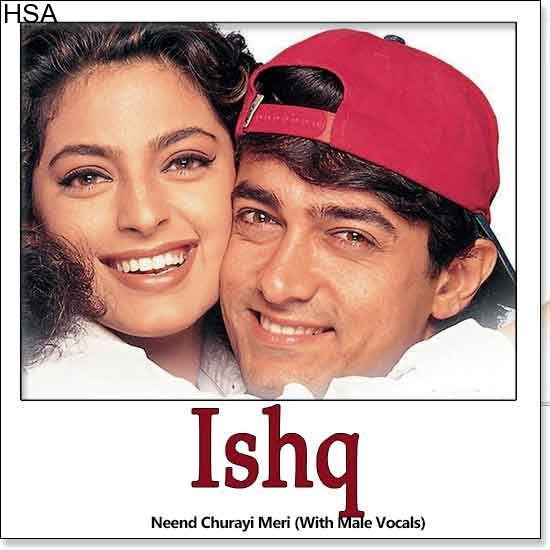 http://hindisingalong.com/neend-churayi-meri-with-male-vocals-ishq.html   Name of Song - Neend Churayi Meri (With Male Vocals) Album/Movie Name - Ishq Name Of Singer(s) - Alka Yagnik, Kumar Sanu, Udit Narayan, Kavita Krishnamurthy Released in Year - 1997 Music Director of M...