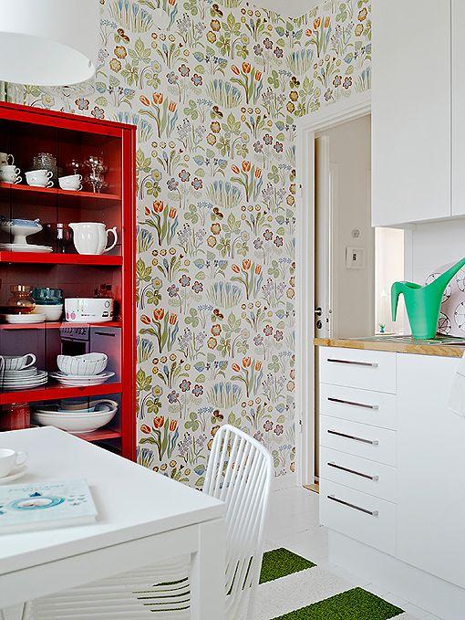 arquitrecos - blog de decoração: Papel de parede na cozinha... Pode!!!