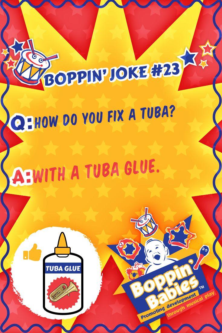 Q: How do you fix a tuba? A: With a tuba glue. #FridayFunny