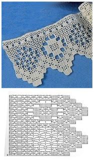 Borte Spitze häkeln - crochet border edging