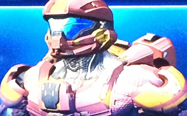 My Original Multiplayer Model For Halo 4. #xbox #xbox360 #halo #halo4 #spartan #multiplayer #model #red #gold