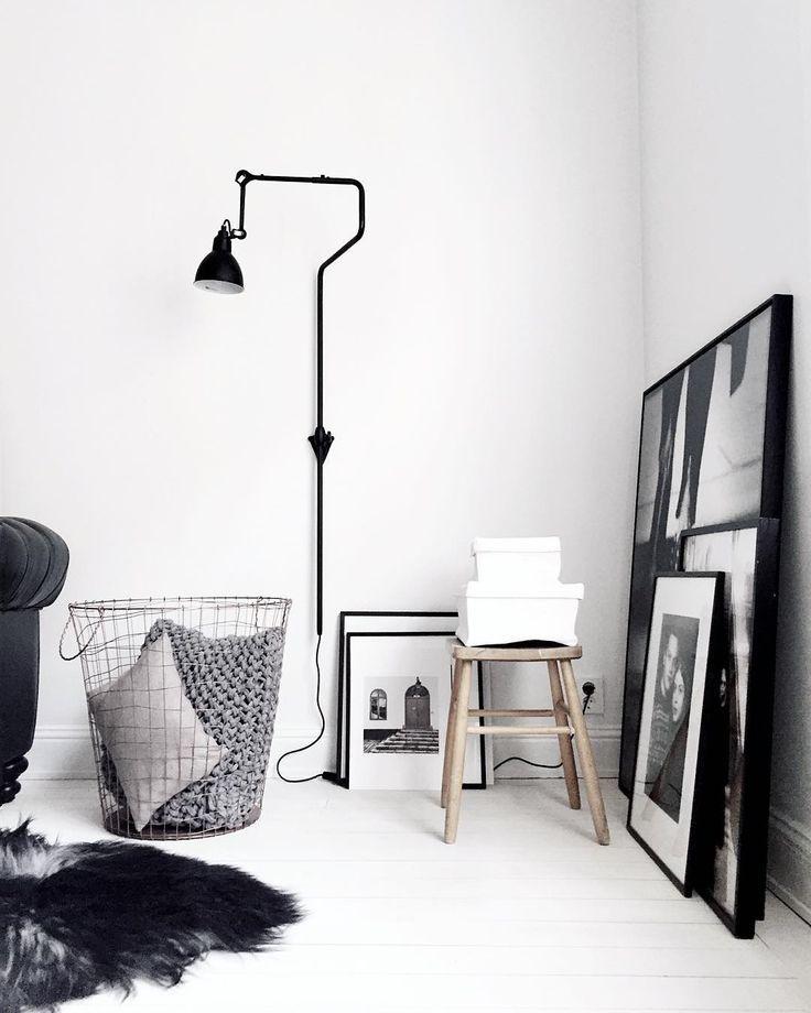 Black and White interior, scandinavian - Roomed