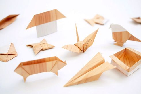 wood-like papper origami