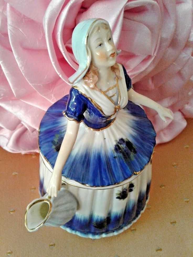 RARE TEA POT/ Figurine of LADY IN BLUE SPECTACULAR and FASCINATING PERFECT | eBay