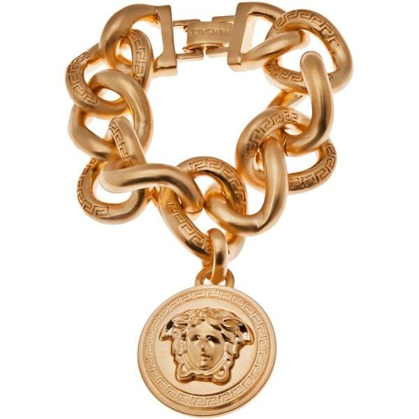 VERSACE Charm bracelet ($610) ❤ liked on Polyvore