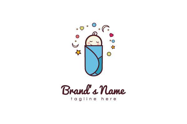 Sweet sleeping baby logo for sale.