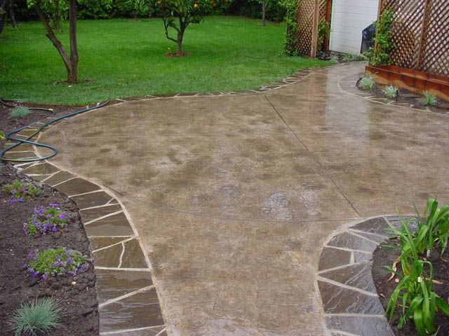 17 best images about patio ideas on pinterest pinterest design patio ideas and cement - Concrete backyard design ...