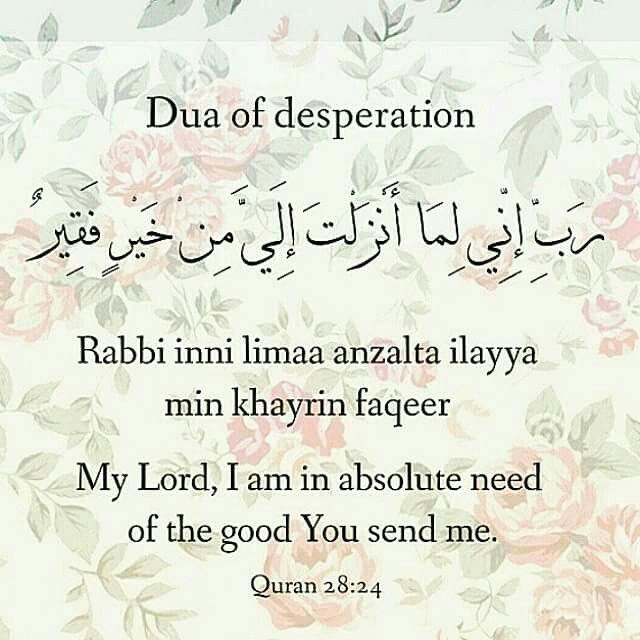 Dua from Noble Quran.  It was the dua Prophet Moses (pbuh) recited when he went…