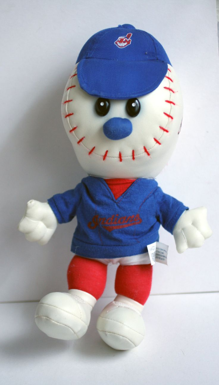 Vintage Cleveland Indians Stuffed Doll, MLB Indians, Baseball Doll. by AbateArts on Etsy