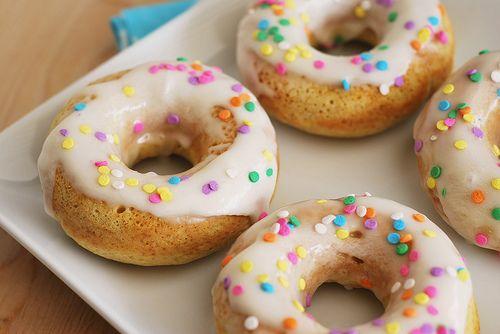 baked vanilla donuts!