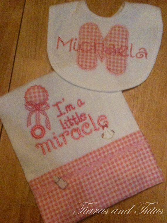 22 best christian baby gifts images on pinterest baby shower personalized baby gifts burp cloths by elainestiarasntutus on etsy negle Gallery