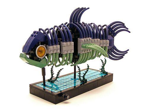 Waggly waggly fishy fish: Lego Lego, Brother Brick, Ruled Fish, Lego Expressions, Lego Blog, Wagg Fishi, Fish Lego, Lego Fishi, Fish Skeletons