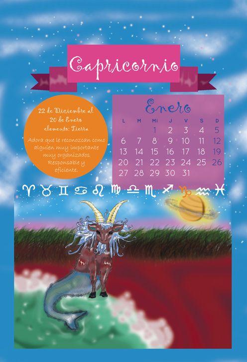 January Representing Capricorn