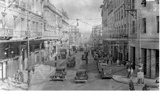 Stadiou Street. Athens, 1950-1960 Pericles Papachatzidakis, #solebike, #Athens, #e-bike tours