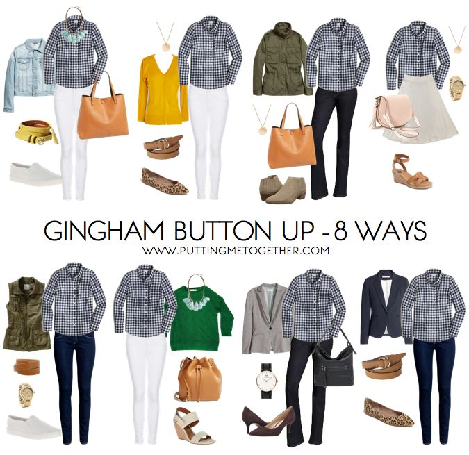 Putting Me Together: 8 Outfits With a Gingham Button Up for Spring