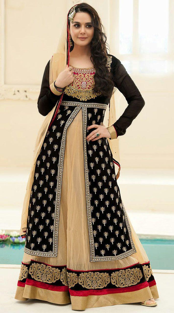Preity Zinta Zaara BegamBollywood BridalAnarkaliKameez YS930263