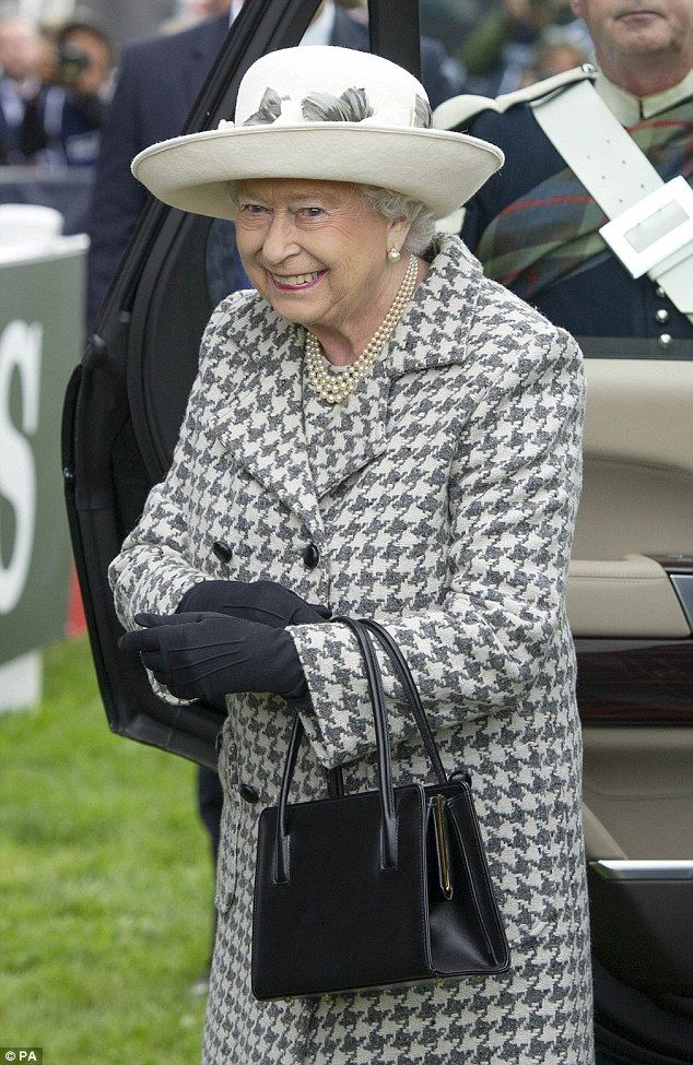 Queen Elizabeth II arrives at the Longines FEI (Federation Equestre Internationale) European Eventing Championship at Blair Castle, Perthshire, rounding off a week in which she became Britain's longest-serving monarch | 13th September 2015