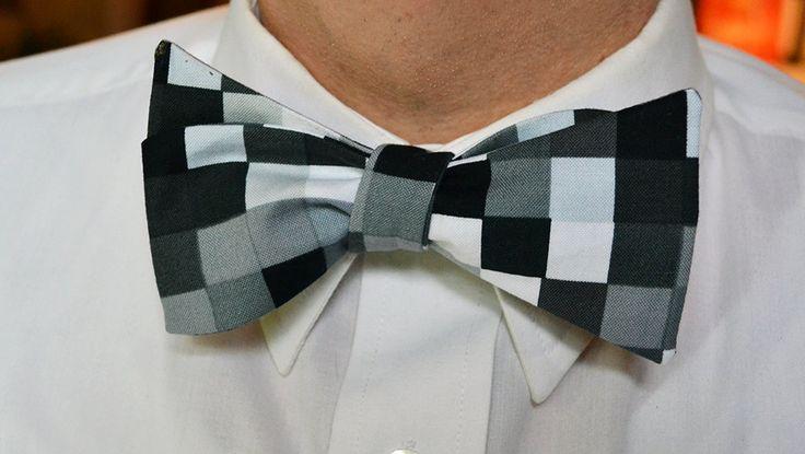 Grey Bow Tie, Black Bow Tie, Self Tie Bow Tie, Bow Ties for Men, Wedding Bow Tie, Mens Bowties, Mens Bow Ties, Black Bowties, Gifts for Men by MichaelEdwardsBowTie on Etsy