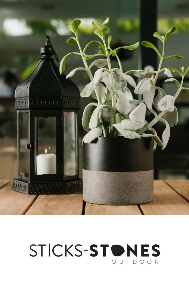 With a beautiful hand painted design, our Cylinder Pot is perfect for any indoor/outdoor landscape. It comes in small, medium and large sizes and stylish colours to choose from such as Black Band, Black Top Dip, Natural/Unpainted and White Band. At Sticks + Stones Outdoor, we travel the globe to source the most stunning, affordable, practical and stylish items to help you create your own beautiful outdoor space. #outdoordecor #homestyling #homeideas #pots #pottery