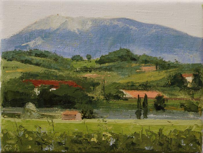 Mont Ventoux (18 x 24 cm) by Gineke Zikken