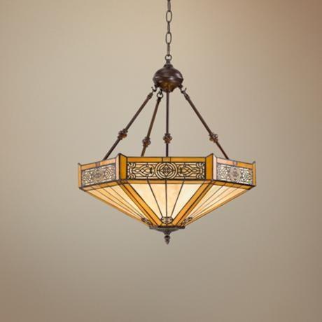 Stratford 3-Light Mission Tiffany Pendant Light   LampsPlus.com