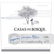 Casas del Bosque Reserva Sauvignon Blanc 2013. Notes of Gooseberry, key lime, herbs and jalapeno...grapefruit. Great reviews, must try.