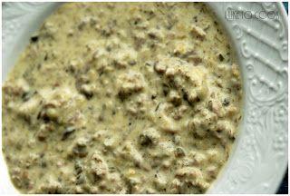 Zupa kremowa z mięsa mielonego i serków topionych