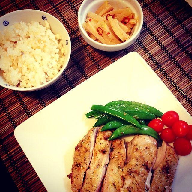 若竹煮も作ろうとしましたが、たけのこ飽きちゃったーーーーー - 30件のもぐもぐ - 鯛めし 鶏肉のソテー  メンマ by uzumaki1220