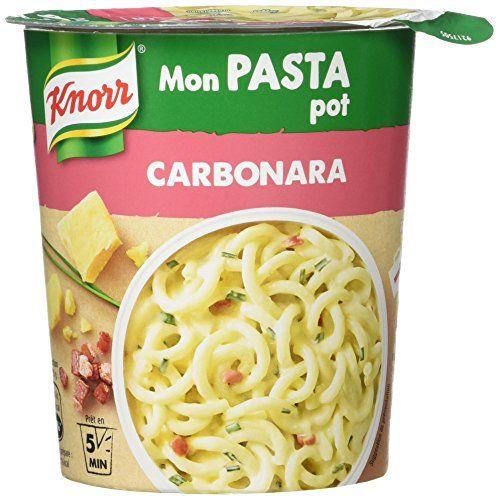 Knorr Pâtes Déshydratées Mon Pasta Pot Carbonara 71 g – Lot de 4: Prêt en 5 min Sans colorant Sans exhausteur de goût Ce produit est pour 1…