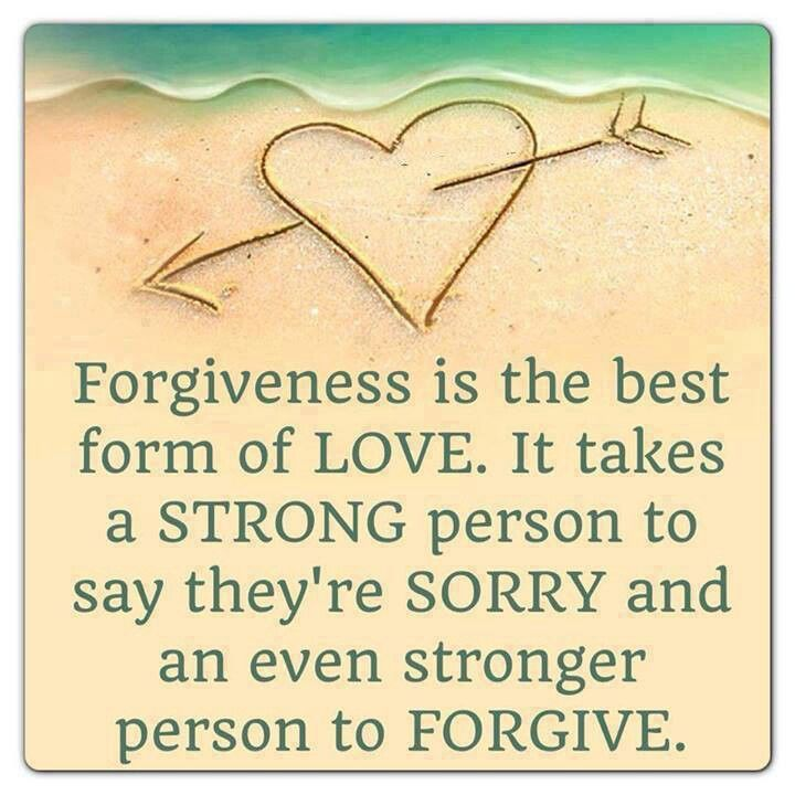 Forgiveness- Nothing's worse than not knowing what you did wrong...