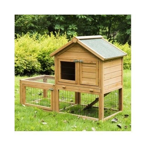 Deluxe 53 39 39 wooden animal rabbit hutch chicken coop small for Duck hutch plans
