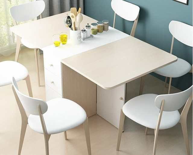 Online Shop Scalable Folding Table The Rectangular Table Aliexpress Mobile Dining Room Small Dining Room Decor Folding Dining Table