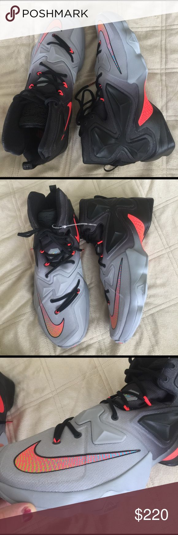 BRAND NEW 🌟 LEBRON JAMES XIII OMBRE NEON KICKS 12 BRAND NEW WITHOUT TAGS OR BOX!  Amazing shoes!!!  SHOW STOPPERS!  Men's size 12!  AMAZING NIKE LEBRON JAMES XIII high top shoes, sneakers. 🌟🌟🌟🌟🌟 Nike Shoes Athletic Shoes