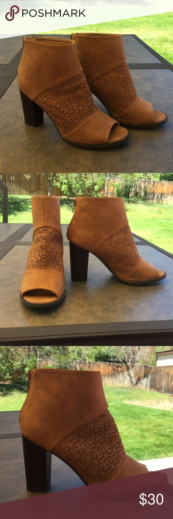 Open Toe Ankle Boots! Ankle boots with open toe! Super cute for summer! Perfect condition! Shoes Ankle Boots & Booties