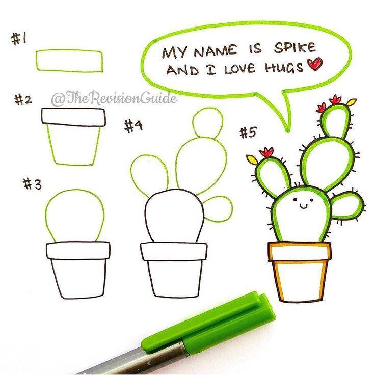 Hugs anyone? I love drawing cacti and succulents…..