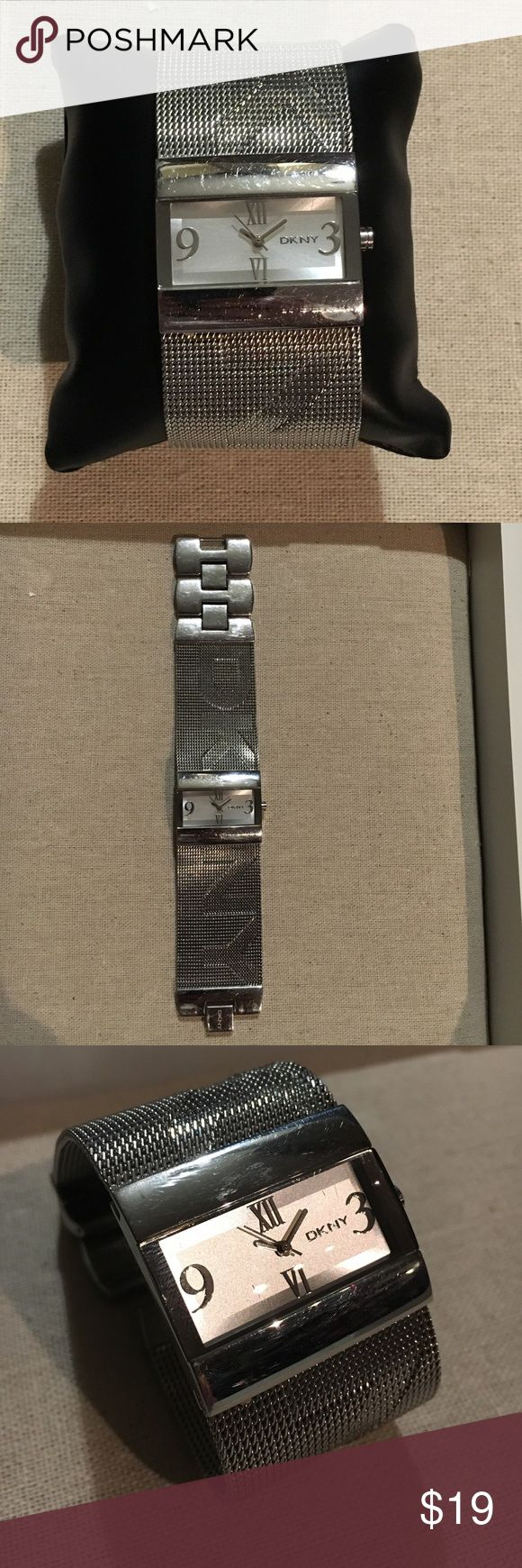 DNKY Mesh Band Watch Stainless Steel mesh band watch- Two removable links- Battery does need replaced DKNY Accessories Watches