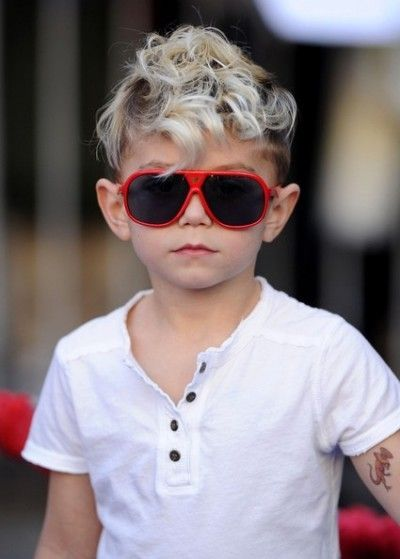 coolest boy haircut ever! I've been wondering how to deal with Dalton's curls in our children!